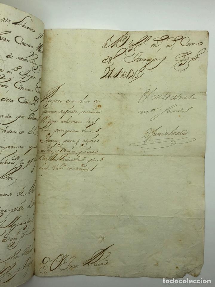 Manuscritos antiguos: Carta manuscrita curiosa caligrafía Tarragona año 1715 - Foto 3 - 200184443