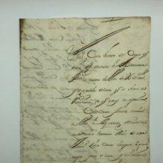 Manuscritos antiguos: CARTA MANUSCRITA CURIOSA CALIGRAFÍA TARRAGONA AÑO 1715. Lote 200184443
