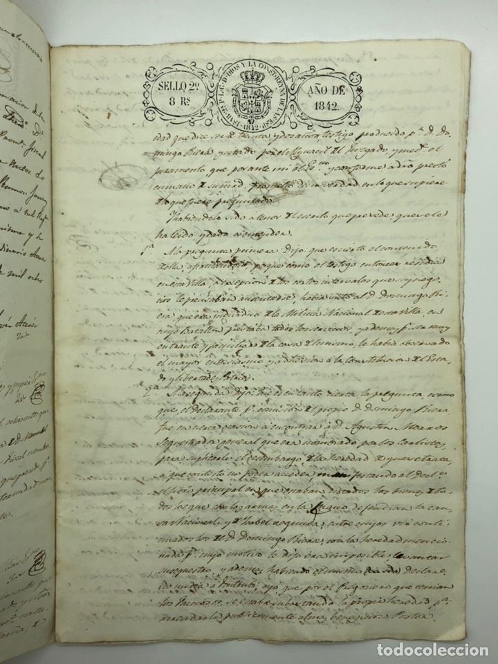 Manuscritos antiguos: Documento manuscrito múltiple firmas año 1842 - Foto 3 - 200185107