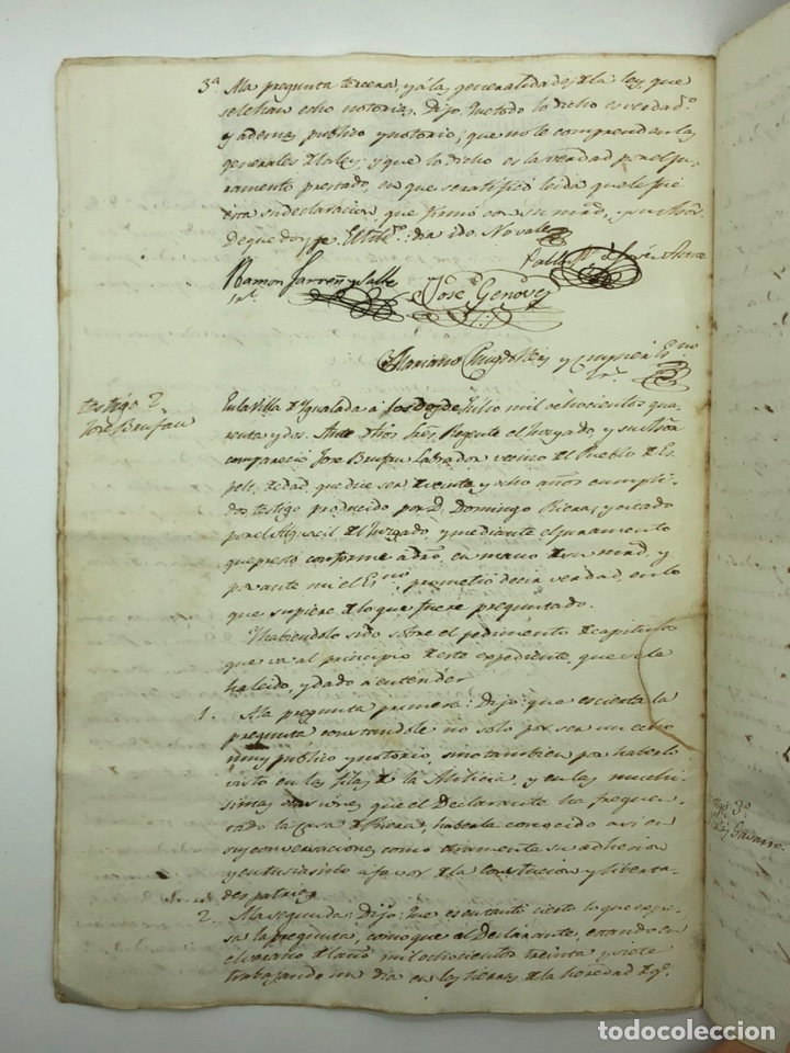 Manuscritos antiguos: Documento manuscrito múltiple firmas año 1842 - Foto 4 - 200185107
