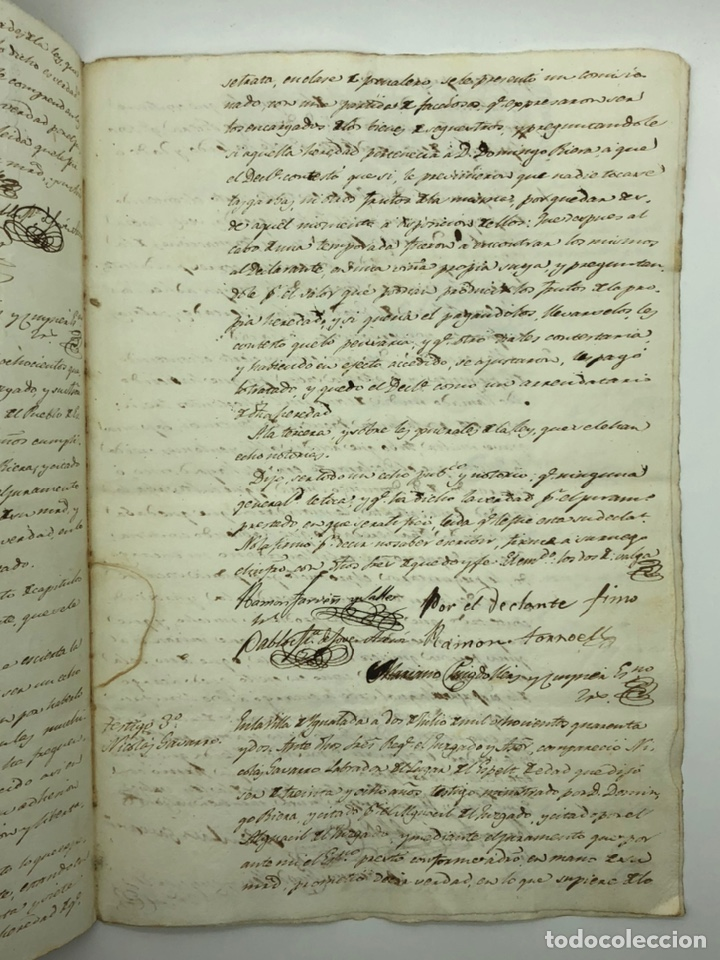Manuscritos antiguos: Documento manuscrito múltiple firmas año 1842 - Foto 5 - 200185107