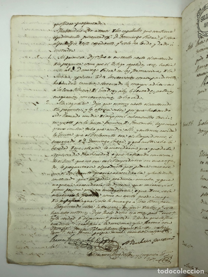 Manuscritos antiguos: Documento manuscrito múltiple firmas año 1842 - Foto 6 - 200185107
