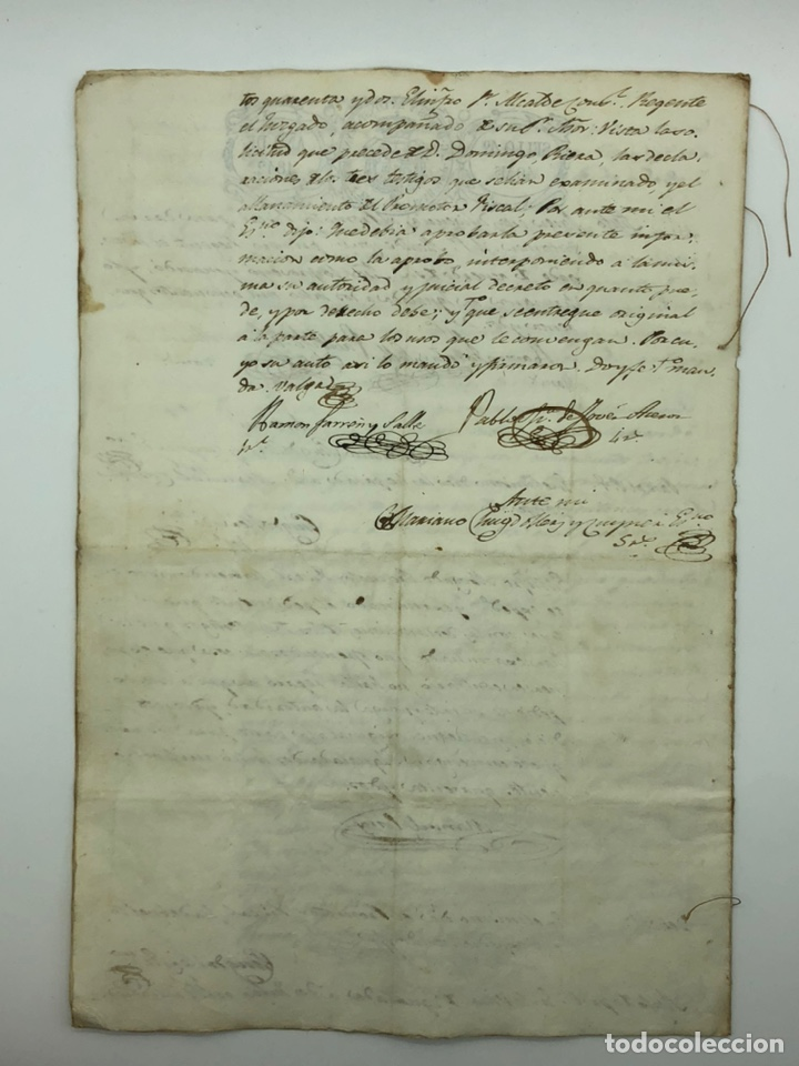 Manuscritos antiguos: Documento manuscrito múltiple firmas año 1842 - Foto 8 - 200185107