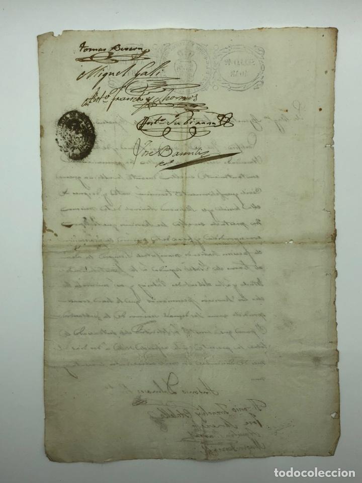 Manuscritos antiguos: Documento manuscrito ayuntamiento año 1841 múltiples firmas - Foto 2 - 200185256