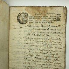 Manuscritos antiguos: DOCUMENTO MANUSCRITO SELLO FISCAL AÑO 1786. Lote 200185896