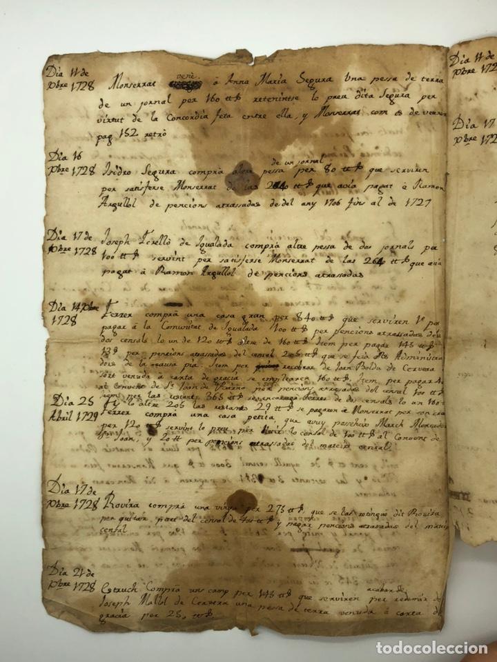 Manuscritos antiguos: Manuscrito licencia año 1728 - Foto 2 - 200186213