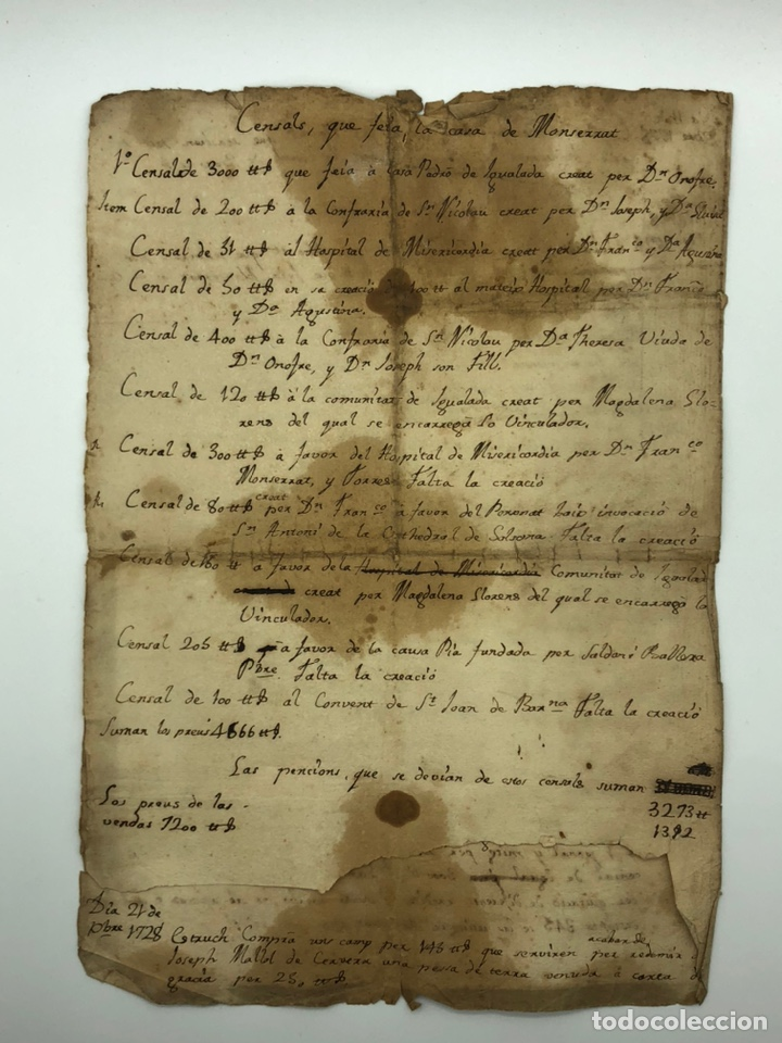 Manuscritos antiguos: Manuscrito licencia año 1728 - Foto 4 - 200186213