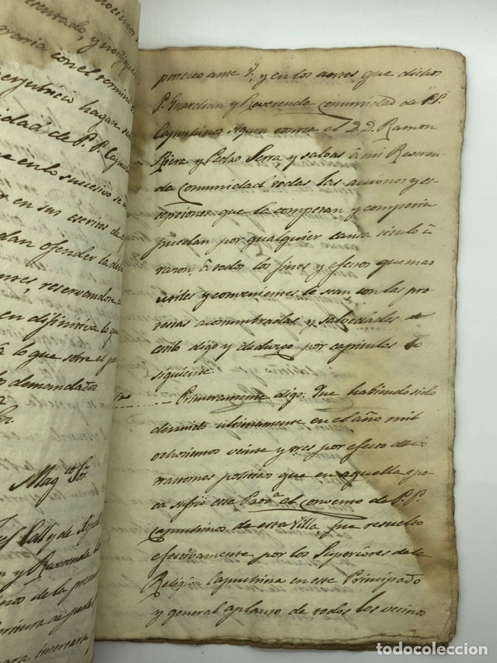 Manuscritos antiguos: Documento manuscrito caso judicial Igualada ano 1831 - Foto 7 - 200186453