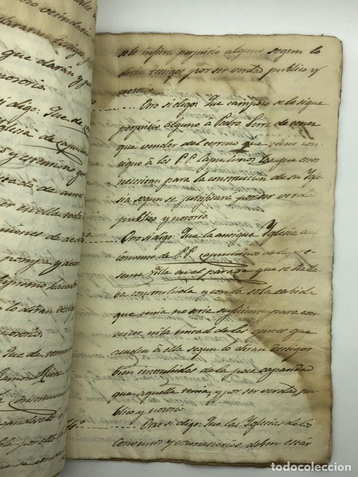 Manuscritos antiguos: Documento manuscrito caso judicial Igualada ano 1831 - Foto 10 - 200186453