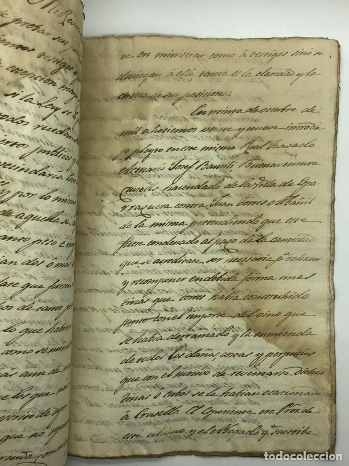 Manuscritos antiguos: Documento manuscrito caso judicial Igualada ano 1831 - Foto 18 - 200186453