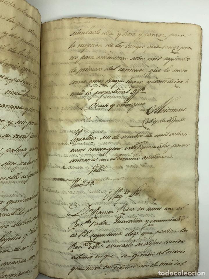 Manuscritos antiguos: Documento manuscrito caso judicial Igualada ano 1831 - Foto 20 - 200186453