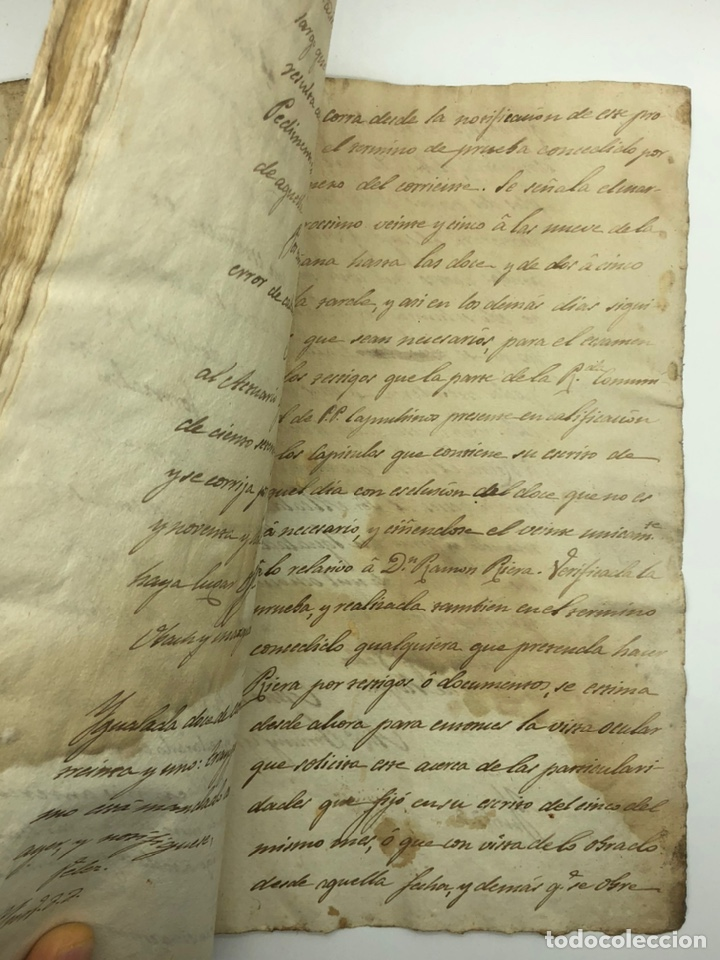 Manuscritos antiguos: Documento manuscrito caso judicial Igualada ano 1831 - Foto 27 - 200186453