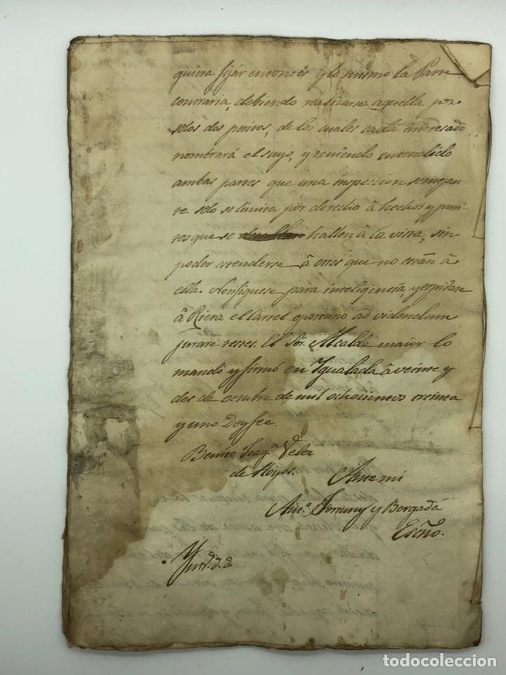 Manuscritos antiguos: Documento manuscrito caso judicial Igualada ano 1831 - Foto 28 - 200186453