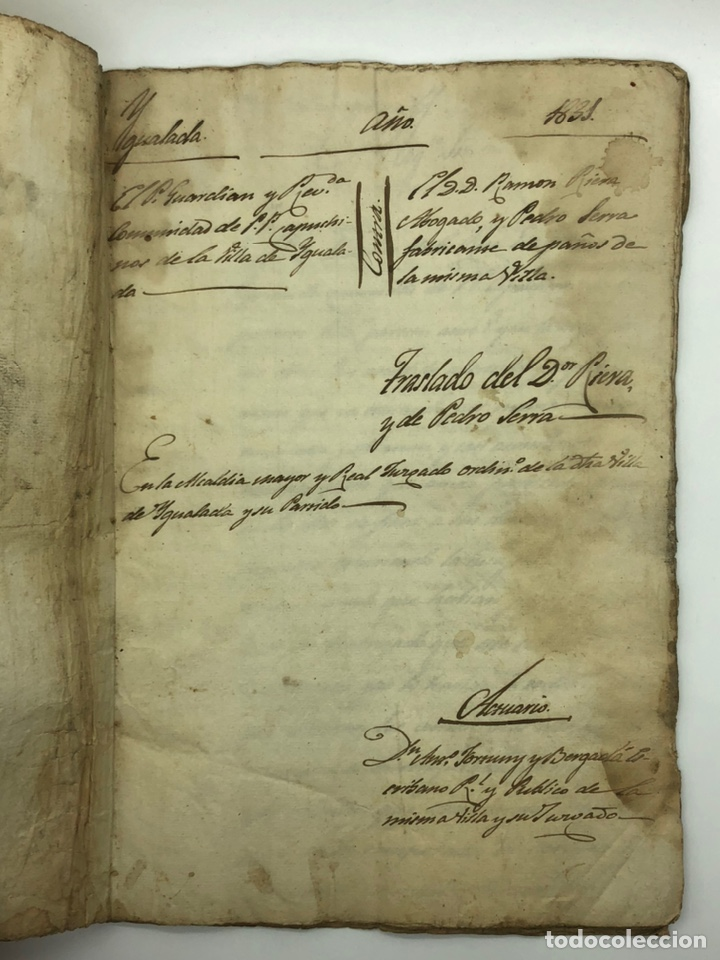 DOCUMENTO MANUSCRITO CASO JUDICIAL IGUALADA ANO 1831 (Coleccionismo - Documentos - Manuscritos)