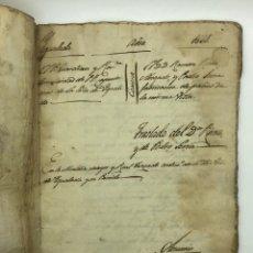 Manuscritos antiguos: DOCUMENTO MANUSCRITO CASO JUDICIAL IGUALADA ANO 1831. Lote 200186453