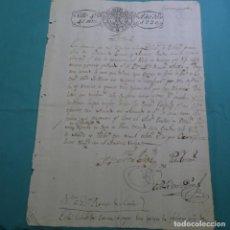 Manuscritos antiguos: MANUSCRITO 1820.SELLO FERNANDO VII.40 MARAVEDIS.AUTO EN ORENSE.RAMON DE ACUÑA. BENITO DIAZ.. Lote 200402341