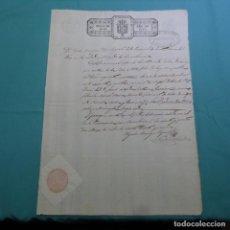 Manuscritos antiguos: ASUNTOS DE GUERRA.MANUSCRITO 1839.SELLO ISABEL II.40 MARAVEDIS.OLEGARIO BARRIGA REGENTE.SELLO RARO.. Lote 200402811