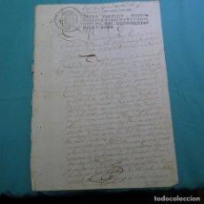 Manuscritos antiguos: MANUSCRITO 1818.SELLO FERNANDO VII.136 MARAVEDIS.CONDE DE LA TORRE PENELA(CABANA DE BERGANTIÑOS). Lote 200513167