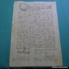 Manuscritos antiguos: MANUSCRITO 1749.SELLO FERNANDO VI.20 MARAVEDIS.ORENSE.EN GALLEGO.VILLA DE BENAXACES.. Lote 200535396