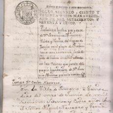 Manuscritos antiguos: PLEITO SOBRE LOS BIENES DE Dª ANTONIA XIMENO. 1775. VILLAS DE PANIZA Y FRESCANO, ZARAGOZA. Lote 200590210