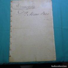 Manuscritos antiguos: MANUSCRITO DE 1865(ISABEL II ).FONDARELLA,CALLE DE ARRIBA.SIDAMUNT.MARIA BELLET.SANTIAGO TORRUBIANO.. Lote 200612212
