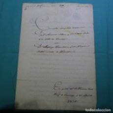Manuscritos antiguos: MANUSCRITO DE 1854(ISABEL II).TARREGA(LLEIDA).SANTIAGO TORRUBIANO.MARIA BELLET.ANTONIA SOLSONA.SELLO. Lote 200613086