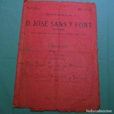 Manuscritos antiguos: ESCRITURA MANUSCRITA DE VIC.AÑO 1906.JOSE TORRAS SERRA-JOSÉ BASSOLS TORRAS.. Lote 200634365