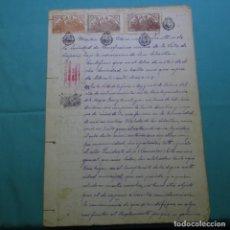 Manuscritos antiguos: MANUSCRITO AÑO 1907.MARTIN CLARAMUNT.VARIOS SELLOS.COPONS.MANRESA.SOCIEDAD DE BENEFICIENCIA.. Lote 200637427