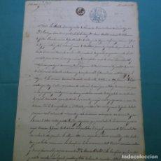 Manuscritos antiguos: MANUSCRITO AÑO 1857.SELLO DE ISABEL II.4 MRS.LLEIDA.VILANOVA I LA GELTRU.MARIA BELLET.TORRUBIANO.. Lote 200638696