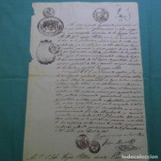 Manuscritos antiguos: MANUSCRITO DE 1847.SELLO ISABEL II).40 MRS.CONSULADO CHILE.SELLOS POCO VISTOS.. Lote 200639915
