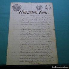 Manuscritos antiguos: MANUSCRITO 1852.SELLO ISABEL II.40 MRS.SANT LLORENS DE VILARDELL.SANT ESTEVE DE PALAU TORDERA.. Lote 200643762
