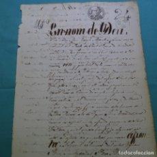Manuscritos antiguos: MANUSCRITO 1852.SELLO ISABEL II.40 MRS.SANT LLORENS DE VILARDELL.SANT ESTEVE DE PALAU TORDERA.. Lote 200644416