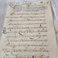 Manuscritos antiguos: CARLOS III 1785 SELLO SEGUNDO CIENTO TREINTA Y SEIS MARAVEDIS. Lote 200724111