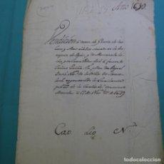 Manuscritos antiguos: MANUSCRITO AÑO 1639.FELIPE IV.SANT CELONI.VENDICION.PARROQUIA FOGAR.JUAN PEDRO POCH.JAIME GUILLA.. Lote 200769431