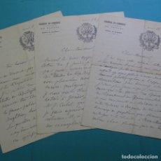 Manuscritos antiguos: 3 CARTAS DE 1917 MANUSCRITAS DE CHARLES OBERTHÜR(1845-1924).ENTOMOLOGO FRANCÉS.RENNES . Lote 200797740