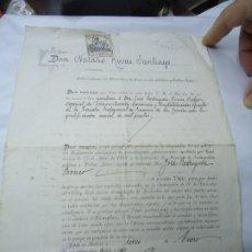 Manuscritos antiguos: ORIGINAL TÍTULO DE PROFESOR DE LA ESCUELA DE COMERCIO DE LA CORUÑA 1916 A DOBLE PÁGINA, TAMAÑO FOLIO. Lote 200812805