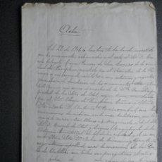 Manuscritos antiguos: MANUSCRITO AÑO 1906 PAMPLONA NAVARRA INAUGURACIÓN ORATORIO PRIVADO Y MISAS CELEBRADAS. Lote 200818706