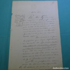 Manuscritos antiguos: MANUSCRITO JUDICIAL DE 1899.PEDRO ARBOS FIGUERAS.TERRASSA.HIJO ÚNICO CON MADRE VIUDA QUE MANTIENE.. Lote 200868072