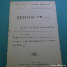 Manuscritos antiguos: MANUSCRITO AYUNTAMIENTO TERRASSA.1900.PEDRO ARBOS FIGUERAS.NUEVE HOJAS. Lote 200869481