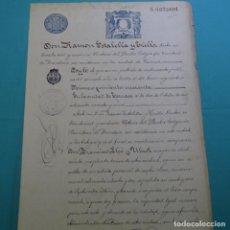 Manuscritos antiguos: MANUSCRITO DE 1895.TERRASSA.RAMON ESTALELLA I TRILLA.FRANCISCO LLEO UBACH.2 HOJAS.. Lote 200869597