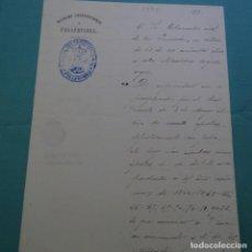 Manuscritos antiguos: MANUSCRITO DE LA ALCALDÍA DE PALAFRUGELL,SELLO.ESCRITO DEL GOBERNADOR CIVIL Y ALCALDE. M. PUIG.1892.. Lote 200870541