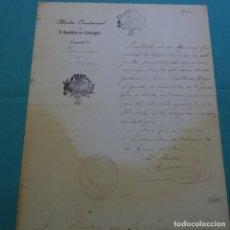 Manuscritos antiguos: MANUSCRITO DE LA ALCALDÍA DE SANT BOI DE LLOBREGAT.JUAN RABASA.EL ALCALDE RAMON PI 1900.. Lote 200870622