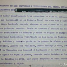 Manuscritos antiguos: RELATO DE HOJA DE SERVICIOS Y VICISITUDES DE CONTRALMIRANTE. Lote 201364458
