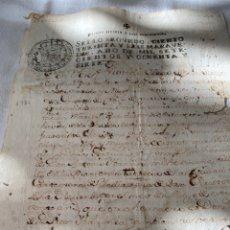 Manuscritos antiguos: CARLOS III 1787 SELLO SEGUNDO CIENTO TREINTA Y SEIS MARAVEDIS. Lote 201469957
