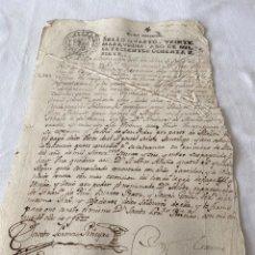 Manuscritos antiguos: CARLOS III 1787 SELLO CUARTO VEINTE MARAVEDIS. Lote 201485676