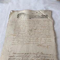 Manuscritos antiguos: CARLOS III 1787 SELLO CUARTO VEINTE MARAVEDIS. Lote 201486325