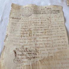 Manuscritos antiguos: CARLOS IV 1791 SELLO CUARTO VEINTE MARAVEDIS. Lote 201508257