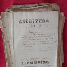 Manuscritos antiguos: ESCRITURAS Y TESTAMENTOS FAMILIA TORRENTS BONASTRE, PUEYO, CARNER, CANTÓ SALA. IGUALADA ANOIA 1851. Lote 201550981