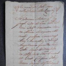 Manuscritos antiguos: MANUSCRITO AÑO 1698 VALENCIA APOCA EN FAVOR CONDE DE CIRAT Y CONDESA VILLAFRANQUESA 4 PÁGS. Lote 201557925