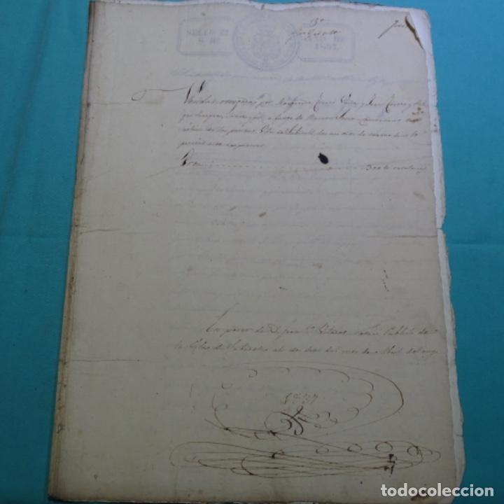 MANUSCRITO ESCRITURA DE 1837.VENTA EN SABADELL.ARBITRIOS DE AMORTIZACIÓN DE MATARÓ.7 HOJAS. (Coleccionismo - Documentos - Manuscritos)